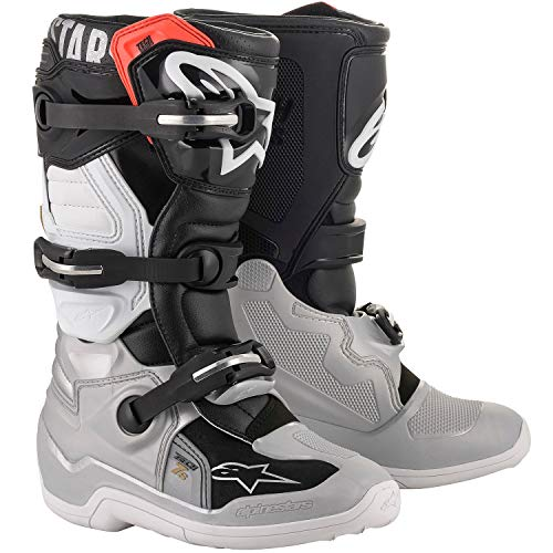 TECH 7S Off-Road Motocross Boot BLACK/SILVER/WHITEGOLD (6) best to buy