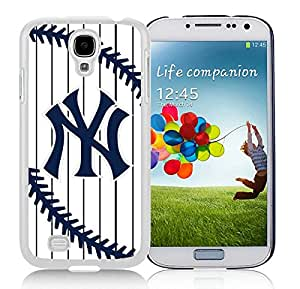 New York Yankees White Samsung Galaxy S4 I9500 Screen Cover Case Beautiful and Cool Look