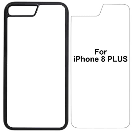 5x Sublimation Blank Cases Compatible With Apple Iphone 8 Plus Rubber Black Blank Dye Cases And Inserts For Dye Sublimation Phone Cover Blank