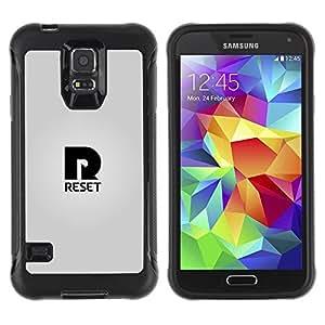 LASTONE PHONE CASE / Suave Silicona Caso Carcasa de Caucho Funda para Samsung Galaxy S5 SM-G900 / Reset R logo