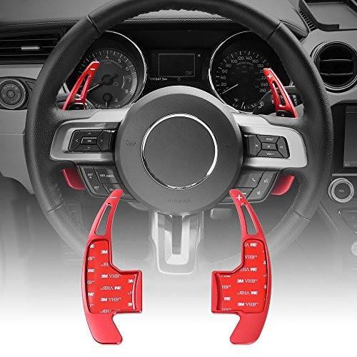 Red Steering Wheel Shift Paddle Shifter Trim Cover For Ford Mustang 2015 2016 2017
