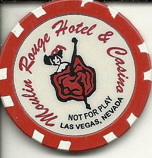 moulin rouge $1 hotel las vegas casino chip rare not for play