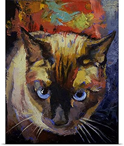 Michael Creese Poster Print entitled Seal Point Siamese - Seal Point Siamese Cats