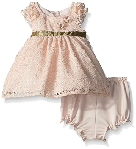 Laura Ashley London Baby Girls' Ruffle Sleeve Party Dress, Blush, (Blush Girls)