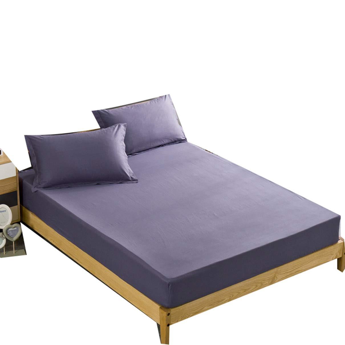 Zerol - Lenzuolo con Angoli Elasticizzati, Morbido e Caldo, 120 x 230-180 x 230 cm, Cotone, Blu, 180 * 230
