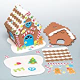 3D Foam Gingerbread House Kits for Children to Make and Display (Each)