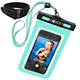 Kobert Waterproof Cell Phone Case (Pro Green), Dry Bag Pouch for iPhone 6s, 6s Plus Samsung Galaxy s7, s7 Edge, s6, Any Phone up to 6 Inches - Green Strap and Armband