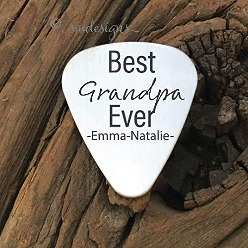 Best - Ever Guitar Pick- Personalized Gift For Best Grandpa Ever Guitar Pick Gift For Godfather Father's Day Gift Idea For Music Lover Dad