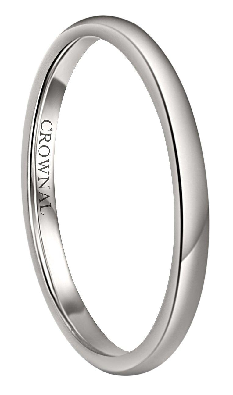 MJ Metals Jewlery 5mm White Tungsten Carbide Polished Classic Wedding Ring