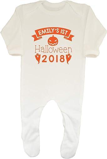 Shopagift Baby Happy 1st Halloween Boys Girls Sleepsuit Romper