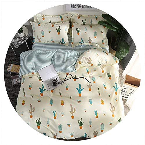 cactus shop Home Textile Autumn Dark-Color Flower Series Bed Linens 4pcs Bedding Sets Bed Set Duvet Cover Bed Sheet Mans Cover Set,25,Twin 4pcs -