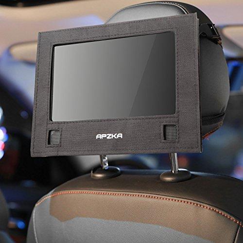 Apzka Car Headrest Mount for Swivel & Flip Style Portable DVD Player-(9 Inch – 9.5 Inch)