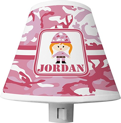 Pink Camo Shade Night Light (Personalized) Camo Pink Lamp Shade