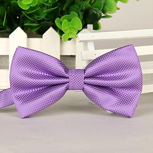 Purple Hosaire Pajarita Hombre Elegante con Gancho con Nudo y Ajustable