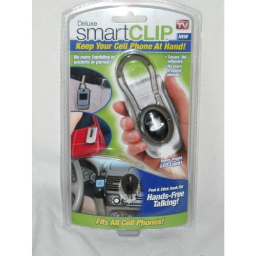 Deluxe SmartClip Universal Cell Phone Clip with LED Light