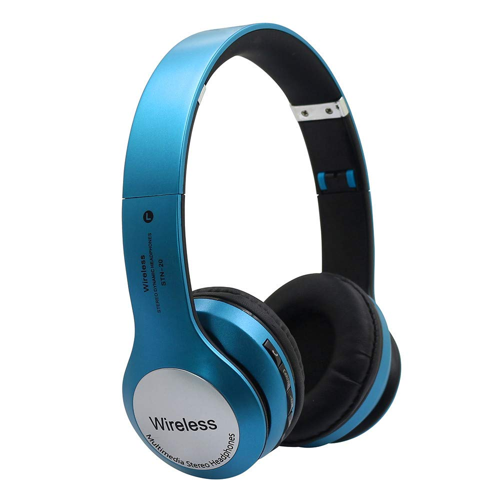 Simplylin Wireless Headphones Bluetooth 4.1 Headset Noise Cancelling Over Ear with Microph (Blue)