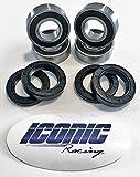 00-06 Honda TRX350TE TRX350TM Fourtrax Rancher 350 BOTH Front Wheel Bearing and Seal Kits (2x4 Only)