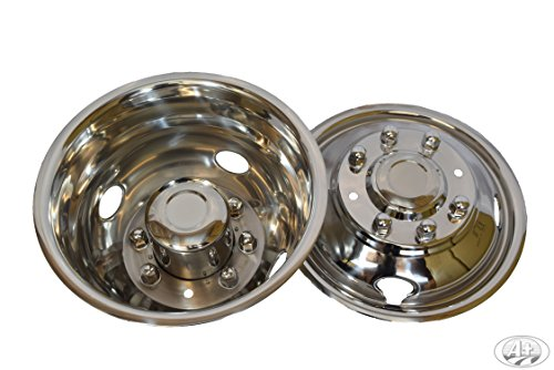 """17"""" Ford 350 05~17 Stainless Steel Wheel Simulator Dually rim liner skin by A+"""