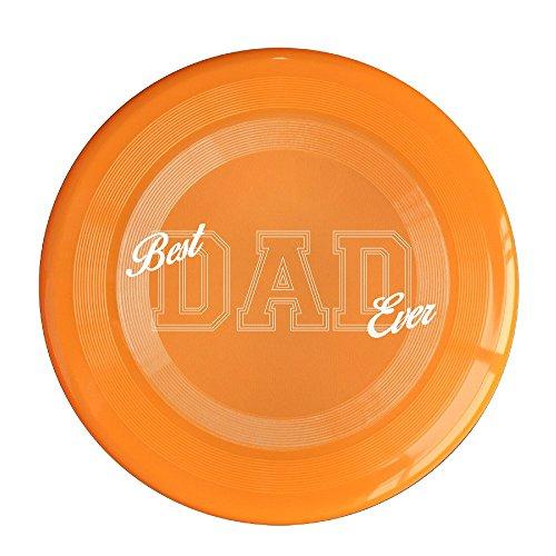 VOLTE Best Dad Ever Orange Flying-discs 150 Grams Outdoor Activities Frisbee Star Concert Dog Pet Toys