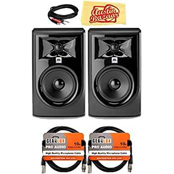 jbl 305pmkii 5 2 way powered studio monitor bundle with 2 speakers 2 xlr cables. Black Bedroom Furniture Sets. Home Design Ideas