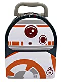 Disney Star Wars: The Force Awakens Embossed BB-8 Cover Tin Lunch Box Grey, Orange, White