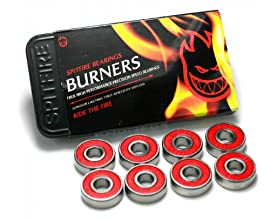 Spitfire Burner Skateboard Bearings One Size Red