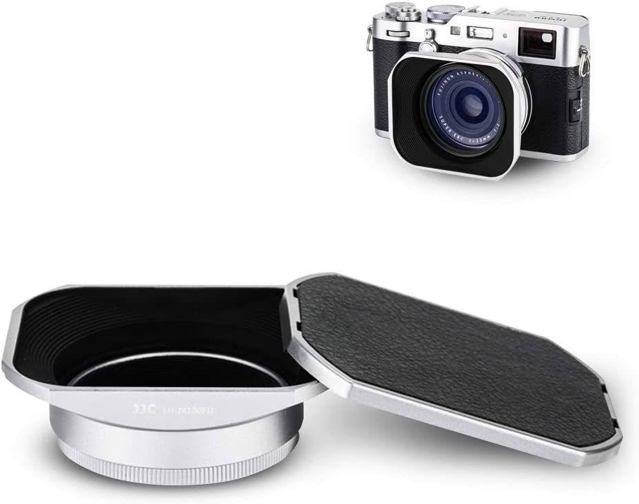 YC Onion Lens Hood Shade for Fujifilm X100V with 23mm Adapter Ring in Aluminum Alloy