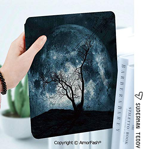 Case for Samsung Galaxy Tab A 8.0 2017 Model T380/T385, Light Weight Shock,Fantasy Night Moon Sky with Tree Silhouette Gothic Halloween Colors Scary Artsy Background]()