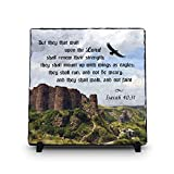 But They That Wait Upon The Lord Shall Renew Their Strength Isaiah 40:31 (11.5X11.5 KJV) | Superior Religious Inspirational Home Décor By Inspiragifts Christmas Gift | Christian Plaque Review