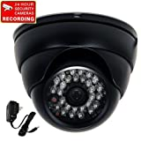 "VideoSecu Built-in 1/3"" SONY Effio CCD 700TVL Day Night Outdoor Security Camera Vandal Proof Wide View Angle Lens 28 Infrared LEDs for CCTV DVR Home Surveillance with Bonus Power Supply BDD"