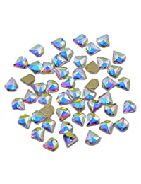 AD Beads Top Czech AB Crystal Flatback Rhinestone Nail Art Decoration Multi Shape