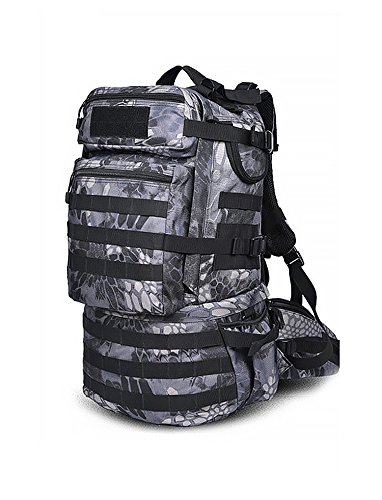 MaxMiles Tactical Backpack Molle Backpacks Assault Gear Camo Navy Army Surplus Pack 45 liters Hiking Backpack Military Rucksacks