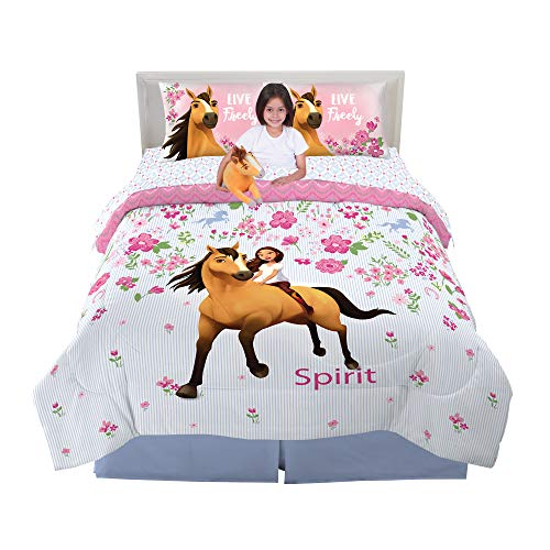 Franco Kids Bedding Super Soft Comforter with Sheets and Plush Cuddle Pillow Set, 6 Piece Full Size, Spirit Riding Free