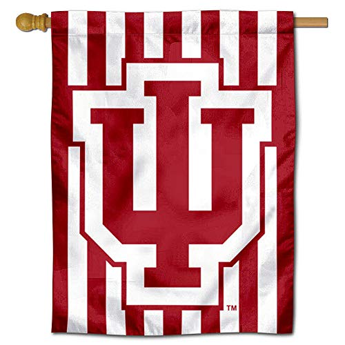 - College Flags and Banners Co. IU Hoosiers Candy Stripe Double Sided House Flag