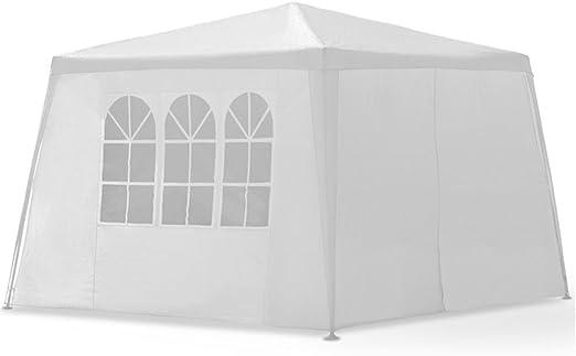 MCTECH® 3 x 3 m Blanco Jardín Carpa Tienda de campaña Tienda de ...
