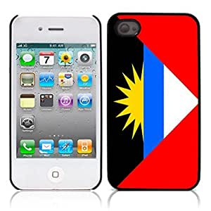 The flag of Antigua and Barbuda Hard Plastic and Aluminum Back Case for Apple iphone 4 4S