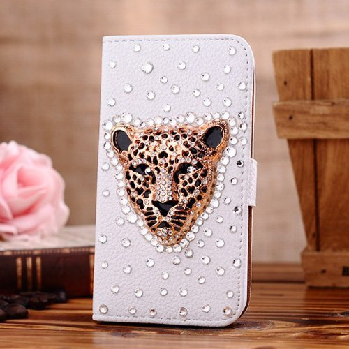 - Berry Accessory(TM) Luxury 3D Bling Crystal Rhinestone Wallet Leather Purse Flip Card Pouch Stand Cover Case for Samsung Galaxy S7 + Berry logo stand holder (gold tiger)