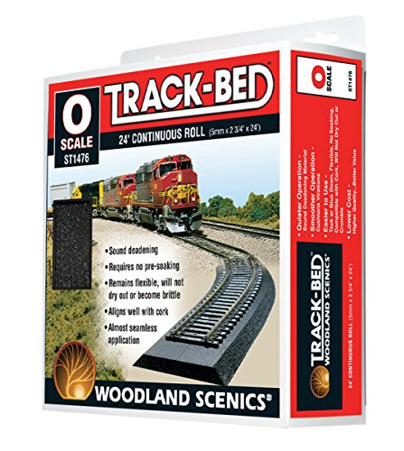 Woodland Scenics O Scale Track-Bed Roadbed Material - Continuous Roll - 24ft