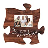 You Are My Sunshine Brown Distressed Wood Look 4 x 6 Wood Puzzle Wall Plaque Photo Frame