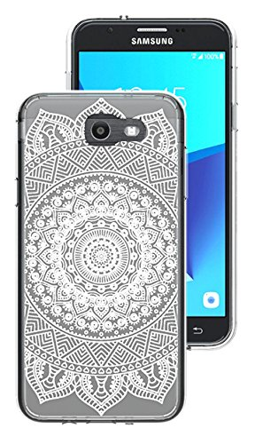 Galaxy J7 V 2017 Case, Galaxy J7 Perx Case, Galaxy J7 Sky Pro Case, Hasting Soft TPU Crystal Pattern Designed Ultra Slim Bumper Cushion Cover for SM-J727 (Mehndi Flower)