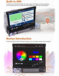 Cámara de respaldo + 2GB 7 '' Single Din Android 6.0 Reproductor de DVD para automóvil con Bluetooth Navegación GPS Estéreo para automóvil Receptor de radio Detechable Panel táctil emergente con subwoofer WiFi Salida de audio   video