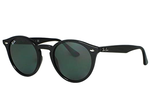 488b2a7fe01 Image Unavailable. Image not available for. Color  Ray Ban RB2180 Round 601 71  Black Sunglasses 49mm