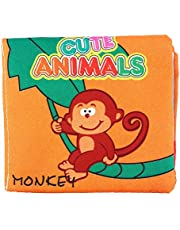 Nontoxic Fabric Baby Cloth Books My First Soft Book Baby Intelligence Developmental Soft Cloth Book for Toddler Infants and Kids (Animal)