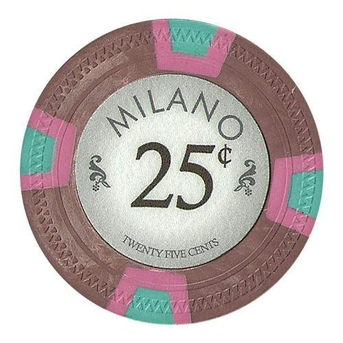 Bry Belly CPML-25c 25 Roll of 25 - Milano 10 Gram Clay - .25¢ - cent