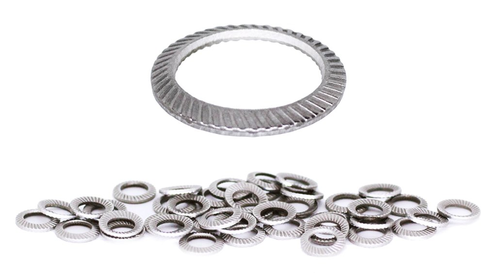 Schnorr (50pcs) M3 Stainless Brand Ribbed Safety Spring Lock Washer Metric, BelMetric WSH3SS