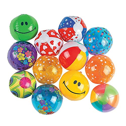GonPi Toy Balls - 50 Pieces/Set 13cm Mini Multi Inflatable PVC Ocean Ball Children Beach/Pool/Bath Balls Baby Toys Paty Supply Ball Pits