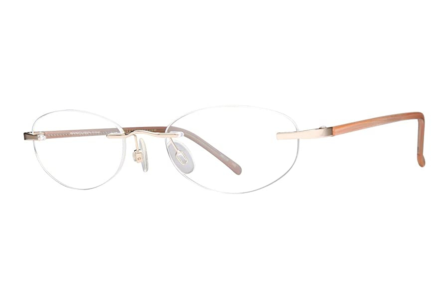 Amazon.com: Invincilites Kappa 101 Mens Eyeglass Frames - Gold ...