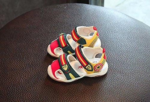 IGEMY Kinder Luminous Schuhe Mode Patchwork Kinder Casual Sandalen Grün