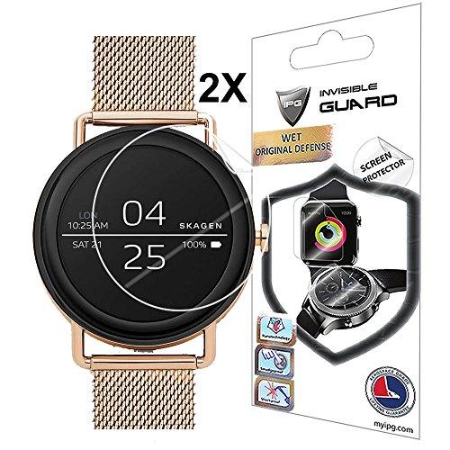 Protective Screen Guard - For Skagen Falster Smartwatch Screen Protector (2 Units) with Lifetime Replacement Warranty Invisible Protective Screen Guard - Smooth / Self-healing / Bubble -Free By IPG