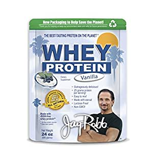 Jay Robb - Vanilla Whey Protein Isolate Powder, 23 Servings (24 oz)